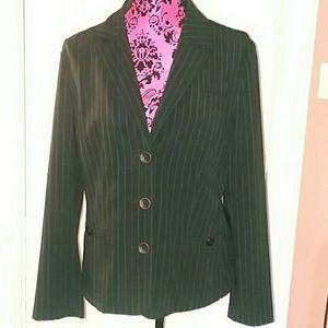 Black Pinstripe Blazer - Size 12